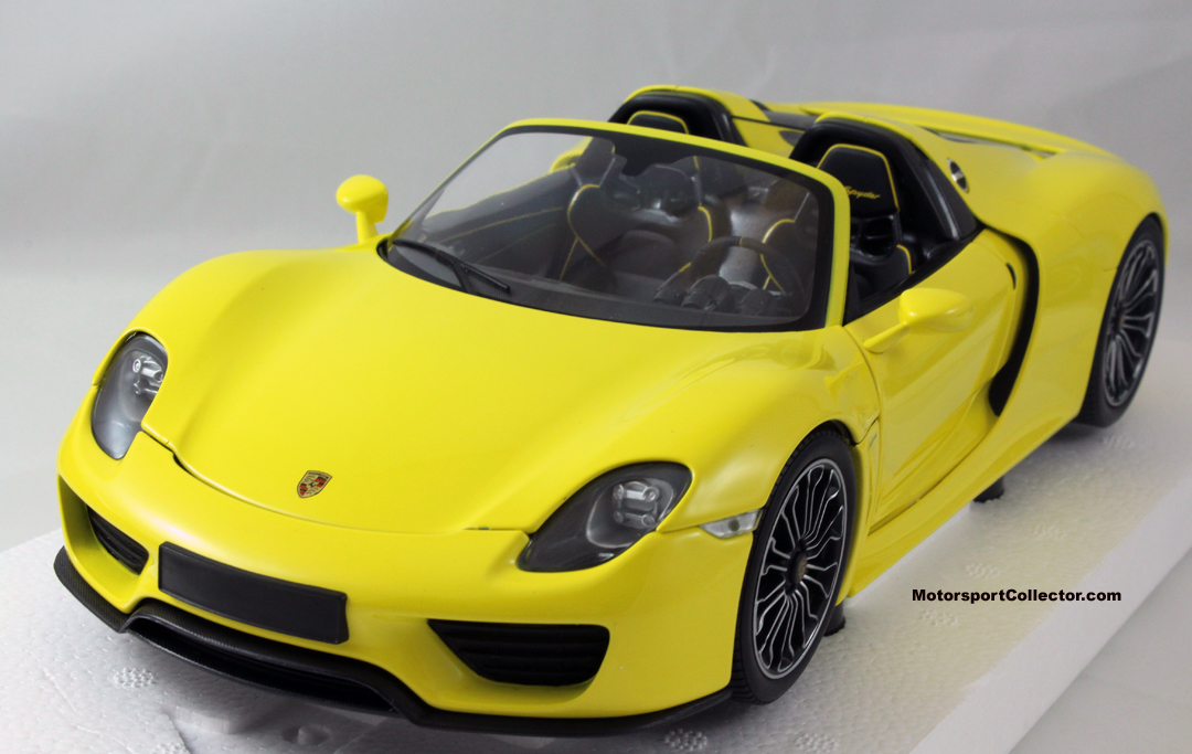 porsche 918 spyder 2013 yellow 110 062434 minjan16 the motorsport collector. Black Bedroom Furniture Sets. Home Design Ideas