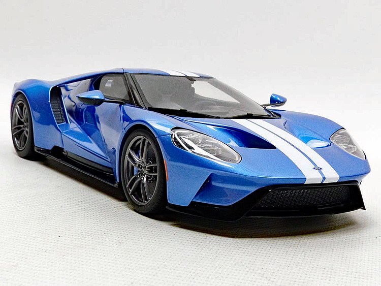 Ford Gt Liquid Blue White Stripes